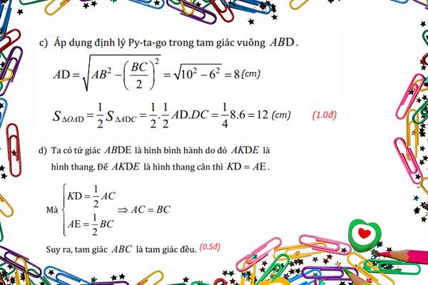 các bài tập toán lớp 8