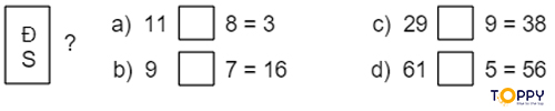 Đề thi toán lớp 2 học kỳ 1