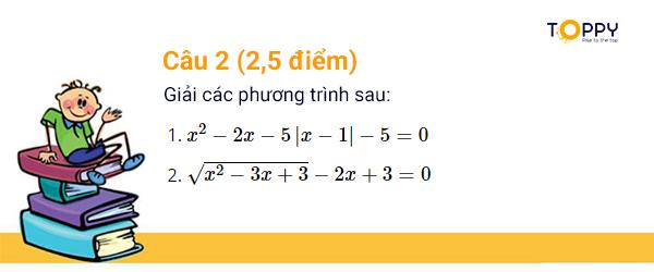 đề thi toán 10 học kì 1