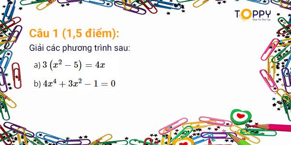 đề thi toán 9 học kỳ 2