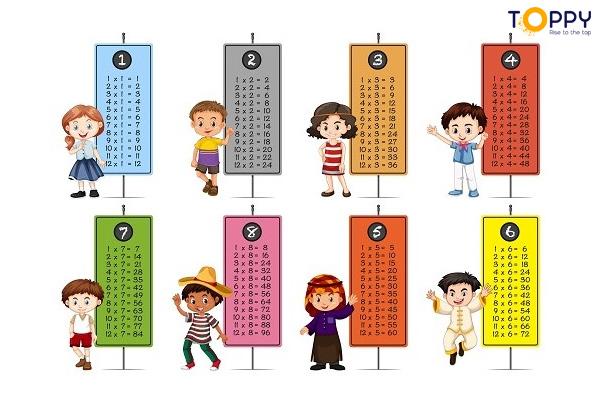 Giúp trẻ học thuộc lý thuyết về các quy tắc trong môn toán. Bảng cửu chương