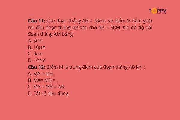 Trọn bộ 7 ma trận đề thi học kì 1 toán 6