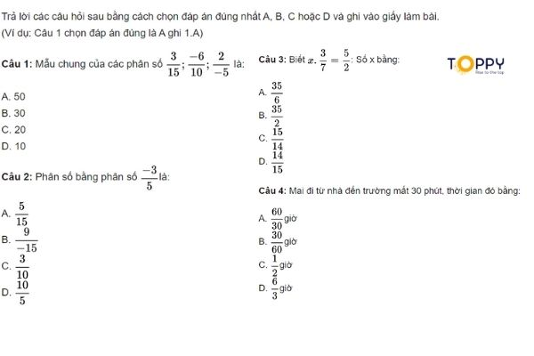 Tổng hợp đề kiểm tra học kì 2 toán 6